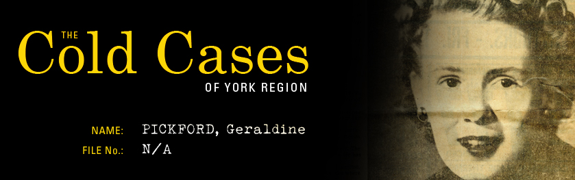 Reads: The Cold Cases of York Region, Geraldine Pickford