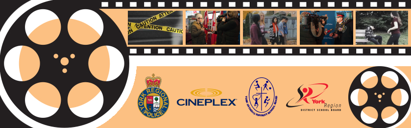 A film strip featuring images of the Youth Film Festival