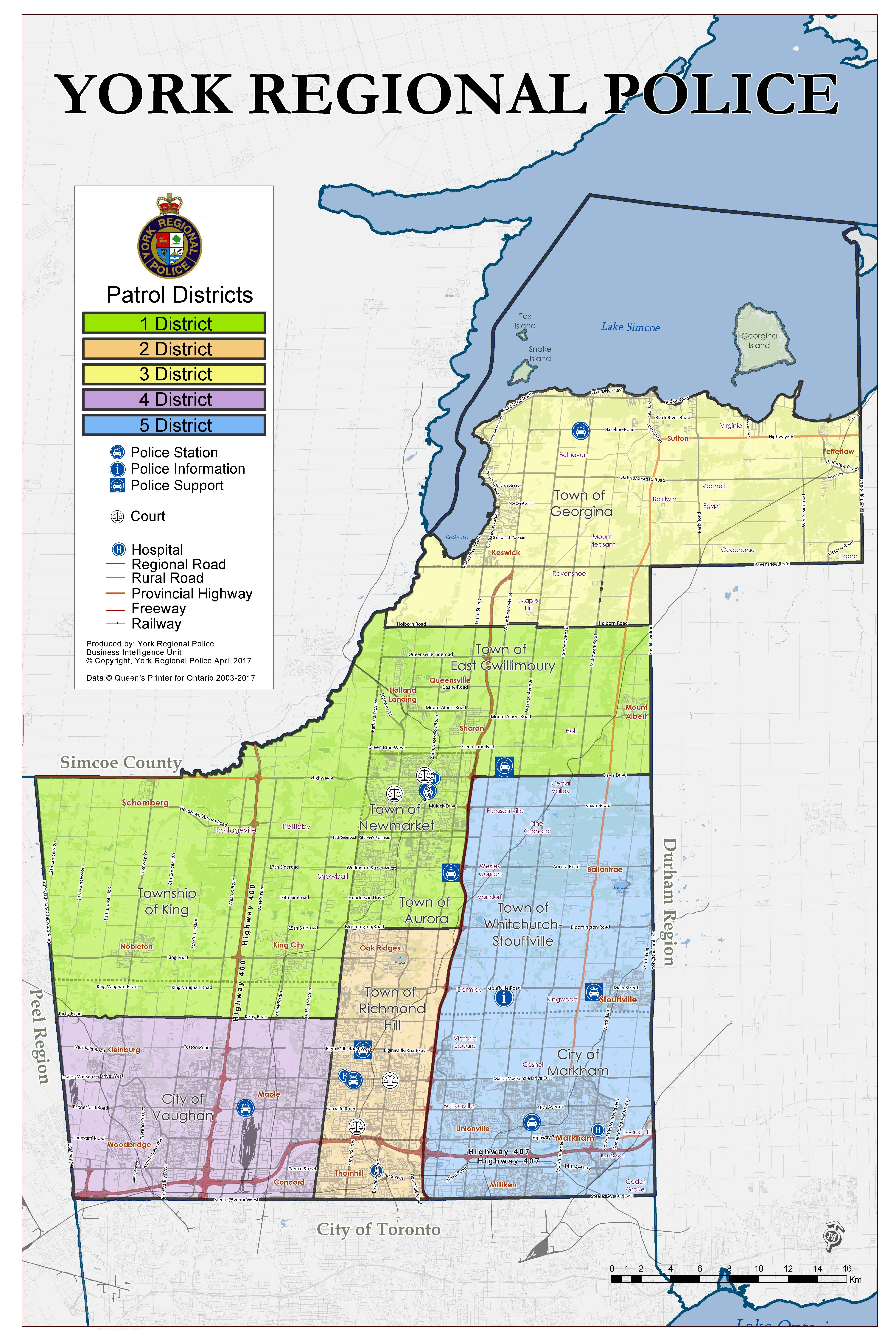 Map Of York Region Districts   York Regional Police Map Of York Region
