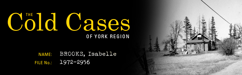 The Cold Cases of York Region: Isabelle Brooks