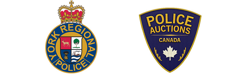 The YRP crest and Police Auction crest